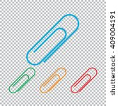 paper clip icon. color set with ... | Shutterstock . vector #409004191