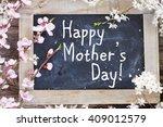 fresh cherry twigs with fresh... | Shutterstock . vector #409012579
