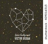 starlit heart on the dark night ... | Shutterstock .eps vector #409016515