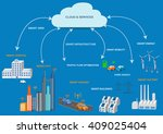 smart grid concept industrial... | Shutterstock .eps vector #409025404
