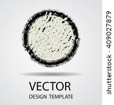 grunge comic sticker. retro... | Shutterstock .eps vector #409027879