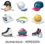 vector cartoon style icon set.... | Shutterstock .eps vector #40903204