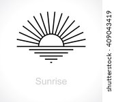 sunrise. vector logos | Shutterstock .eps vector #409043419