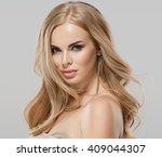 woman beauty skin care close up ... | Shutterstock . vector #409044307