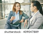 hr manager asking questions to... | Shutterstock . vector #409047889