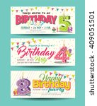 birthday party invitation card... | Shutterstock .eps vector #409051501