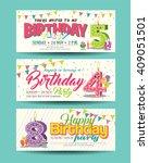 birthday party invitation card... | Shutterstock .eps vector #409051501
