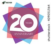 20th years anniversary label ... | Shutterstock .eps vector #409051564