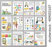 big infographics in flat style. ... | Shutterstock .eps vector #409052107