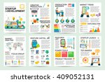 modern flat infographics of... | Shutterstock .eps vector #409052131