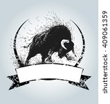 vector vintage label with... | Shutterstock .eps vector #409061359