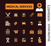 medical services icons  | Shutterstock .eps vector #409064071