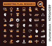 marketing plan  research icons  | Shutterstock .eps vector #409064089