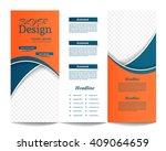 tri fold brochure template... | Shutterstock .eps vector #409064659