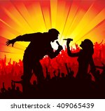 poster for concerts  | Shutterstock . vector #409065439