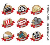 realistic movie badges | Shutterstock .eps vector #409070011