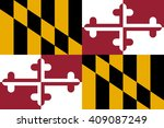 vector flag of maryland. state... | Shutterstock .eps vector #409087249