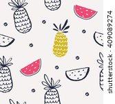 summer background pattern in... | Shutterstock .eps vector #409089274