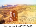 backpack and thermos in... | Shutterstock . vector #409098439
