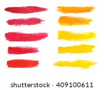 colorful watercolor brush... | Shutterstock . vector #409100611