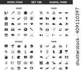 sport  fitness  school set 100... | Shutterstock . vector #409110397