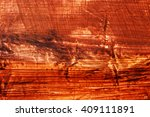 brown paint on wall background. | Shutterstock . vector #409111891