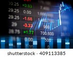 financial data on a monitor.... | Shutterstock . vector #409113385