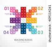 infographic color building... | Shutterstock .eps vector #409114261