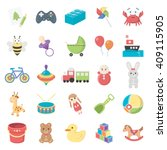 toys 25 cartoon icons set for... | Shutterstock . vector #409115905