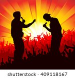 poster for concerts    Shutterstock . vector #409118167
