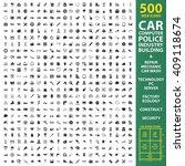 car  automobile  vehicle set... | Shutterstock . vector #409118674