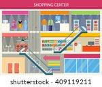 shopping center storefronts... | Shutterstock .eps vector #409119211