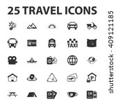 vacation icons set.  | Shutterstock . vector #409121185