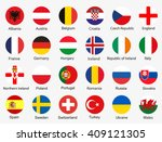 flags of euro 2016 football... | Shutterstock .eps vector #409121305