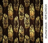 vintage seamless pattern with... | Shutterstock .eps vector #409124014