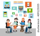omni channel concept for... | Shutterstock .eps vector #409125355