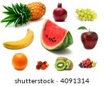 a lot of delicious fresh fruits ... | Shutterstock . vector #4091314