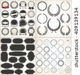 set of empty retro vintage... | Shutterstock .eps vector #409139134