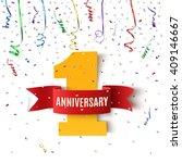 one year anniversary background ... | Shutterstock .eps vector #409146667