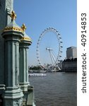 view of the london eye and the...