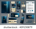 corporate identity template.... | Shutterstock .eps vector #409150879