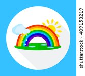 icons rainbow with clouds  | Shutterstock .eps vector #409153219