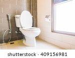 toilet seat decoration in... | Shutterstock . vector #409156981