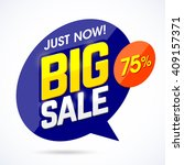 just now big sale banner ...