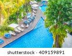 aerial view of beautiful luxury ... | Shutterstock . vector #409159891