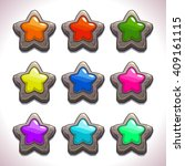 cartoon stone stars with...