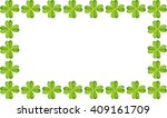 fresh green leaves frame of... | Shutterstock . vector #409161709