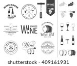vector wine labels and icons... | Shutterstock .eps vector #409161931