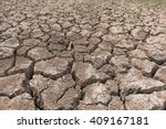 Dry Cracked Earth Background ...
