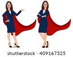 super businesswoman in... | Shutterstock .eps vector #409167325